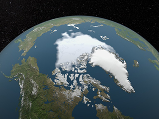 Declining Arctic sea ice