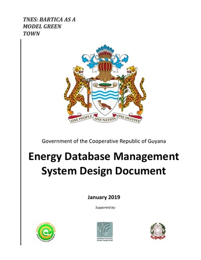 Energy Database Management System Design Document