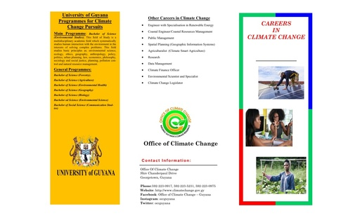 Careers in Climate Change Brochure