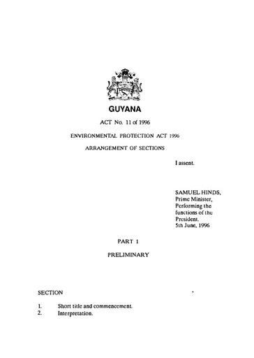 ENVIRONMENTAL PROTECTION ACT 1996