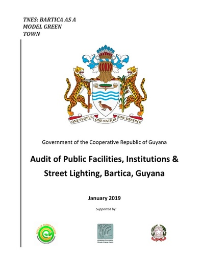 Audit of Public Facilities, Institutions & Street Lighting, Bartica, Guyana