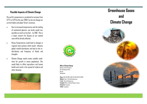 Climate Change and Greenhouse Gases Brochure