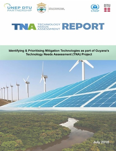Technology Needs Assessment (TNA) Mitigation Report  Final Draft