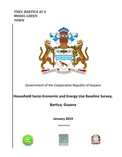 Household Socio-Economic and Energy Use Baseline Survey, Bartica, Guyana