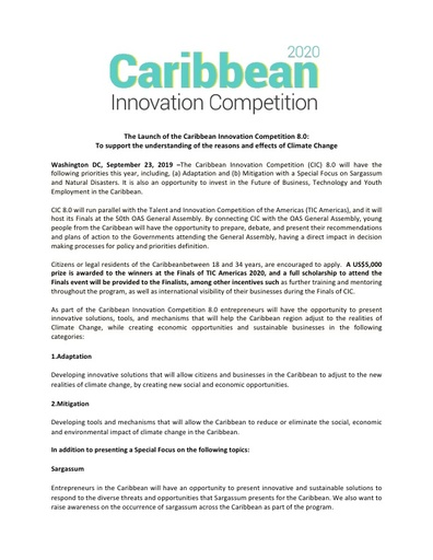 The Caribbean Innovation Competition